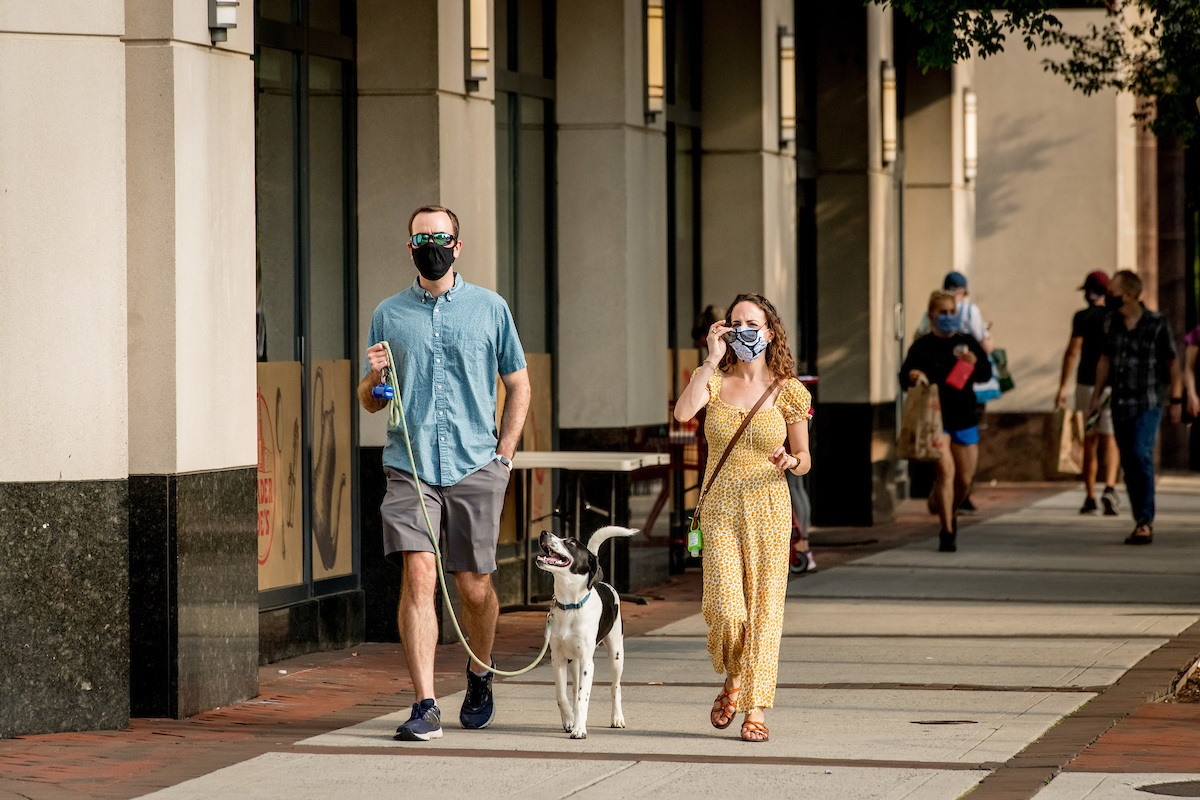 man-woman-dog-street-arlington